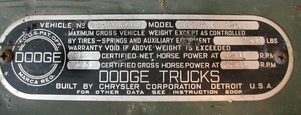 1966 dodge truck vin decoder